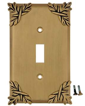Sonnet Leaf Wall Plate (Antique Brass Gold Finish)