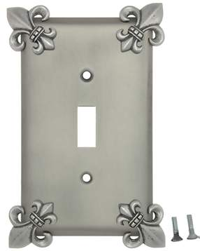 Fleur-De-Lis Wall Plate (Matte Nickel Finish)