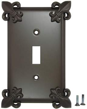 Fleur-De-Lis Wall Plate (Oil Rubbed Bronze Finish)