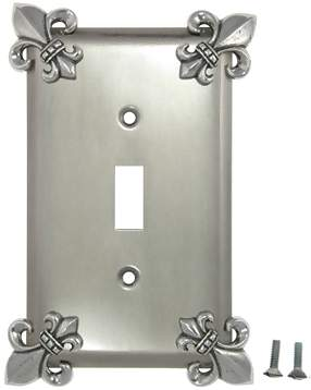 Fleur-De-Lis Wall Plate (Bright Nickel Finish)