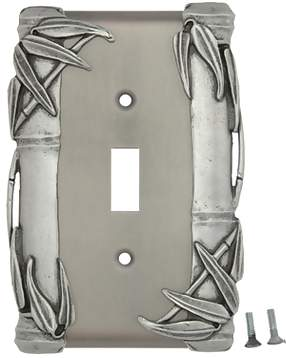 Bamboo Style Wall Plate (Matte Nickel Finish)