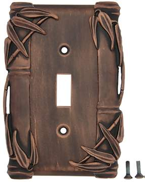 Bamboo Style Wall Plate (Antique Copper Finish)