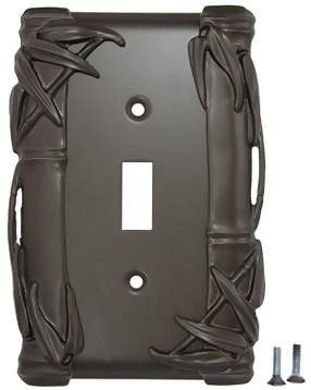 Bamboo Style Wall Plate (Oil Rubbed Bronze Finish)