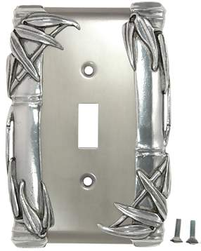 Bamboo Style Wall Plate (Bright Nickel Finish)