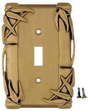 Bamboo Style Wall Plate (Antique Brass Gold Finish)