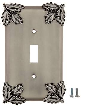 Oak Leaf Wall Plate (Matte Nickel Finish)