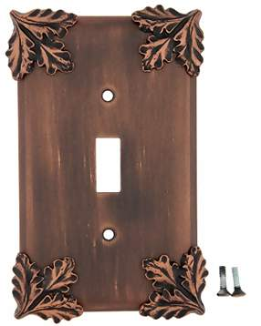 Oak Leaf Wall Plate (Antique Copper Finish)