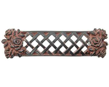 4 1/8 Inch Solid Pewter Roses Flower Pull (Black Terra Cotta Nickel Finish)