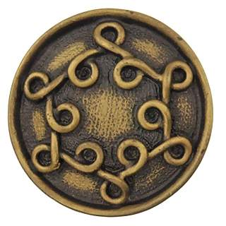1 1/2 Inch Solid Pewter Celtic Shannon Knob (Rubbed Bronze Finish)