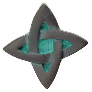 1 Inch Solid Pewter Infinity Knob (Verdigris Finish)