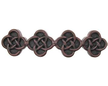 4 1/2 Inch Solid Pewter Celtic Aran Pull (Rust Black Finish)