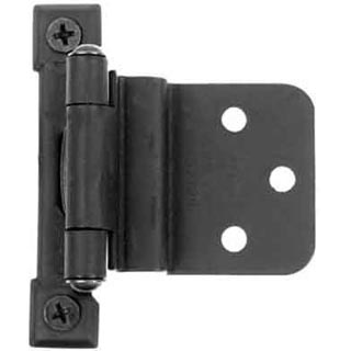 Self Closing Cast Iron Butt Hinge: No Mortise Pair of Black Matte Iron Hinges (3/8 Inch Offset)