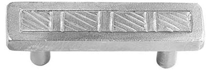 3 1/2 Inch Stainless Steel Pull: Classic Textured Style Pull