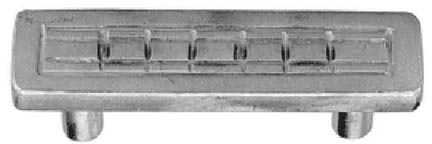 3 1/2 Inch Stainless Steel Pull: Hand Cast Squares