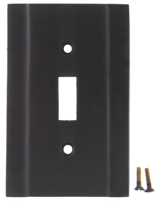 Solid Brass Contemporary Wall Plate (Oil Rubbed Bronze Finish)