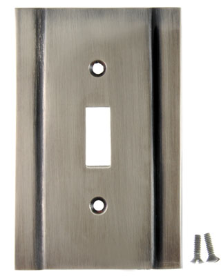 Switchplate - Contemporary Style (Antique Nickel Finish)