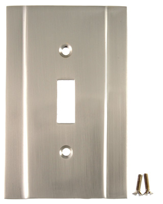 Switchplate - Contemporary Style (Satin Nickel Finish)
