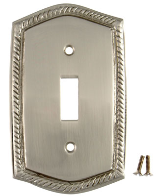 Solid Brass Georgian Roped Plate (Brushed Nickel Finish)