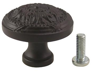 1 1/4 Inch Georgian Solid Brass Knob (Oil Rubbed Bronze Finish)
