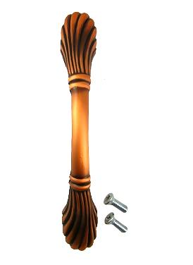 5 Inch Orchid Cabinet Pull (Brushed Antique Copper Finish)