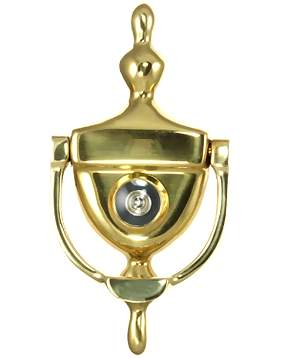 6 Inch (3 3/4 Inch c-c) Heritage Style Door Knocker (Polished Brass Finish)