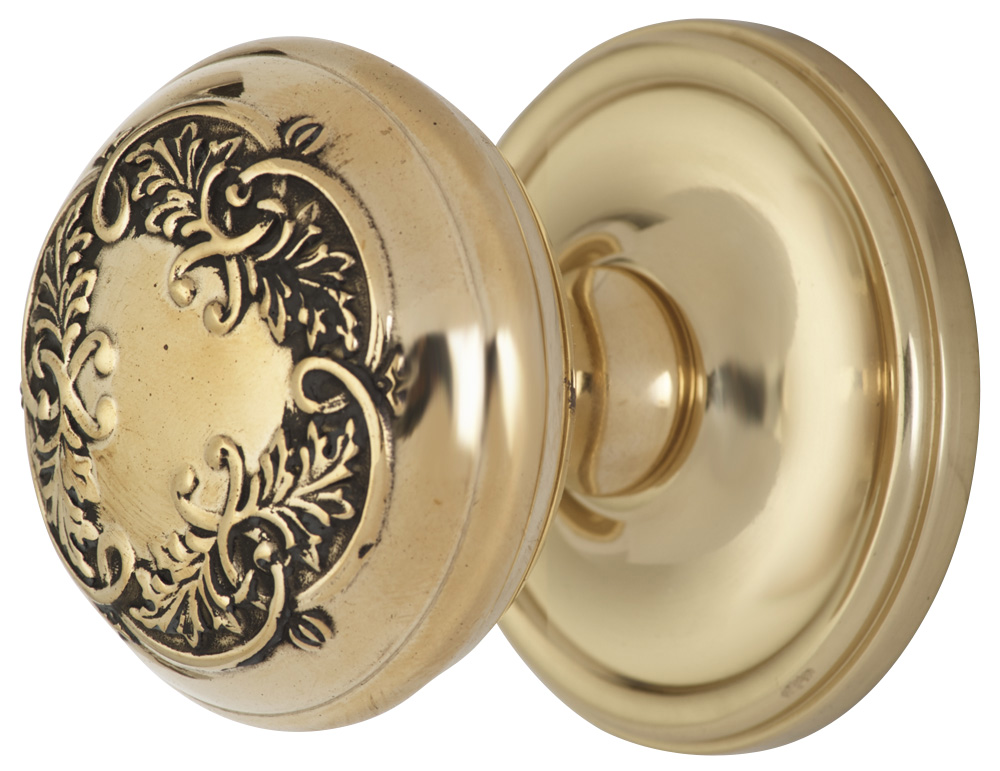 Lancaster Door Set With Avalon Oval Knob (Antique Brass Finish)