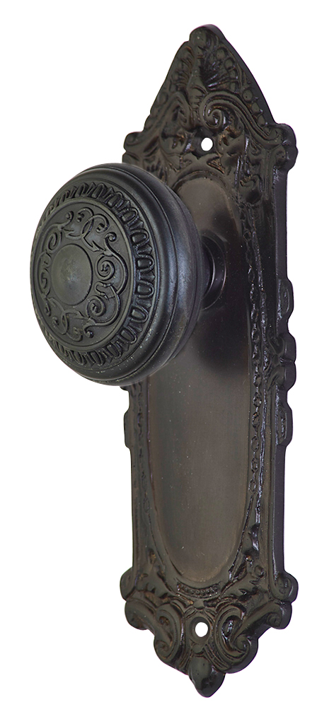 2 Inch Romanesque Door Knob With Largo Design Rosette (Oil Rubbed Bronze Finish)