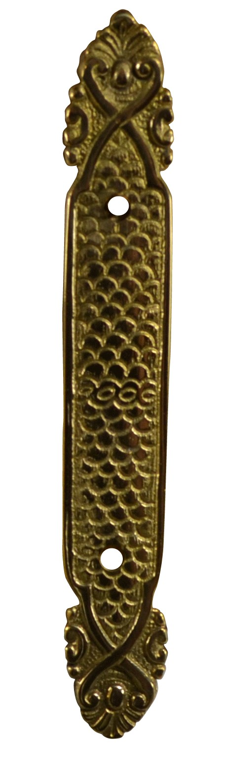 6 Inch Solid Brass Ornate Style Back Plate (Antique Brass Finish)