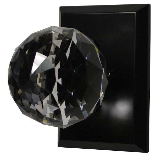 Cut Glass Door Knob (Oil Rubbed Bronze Finish)