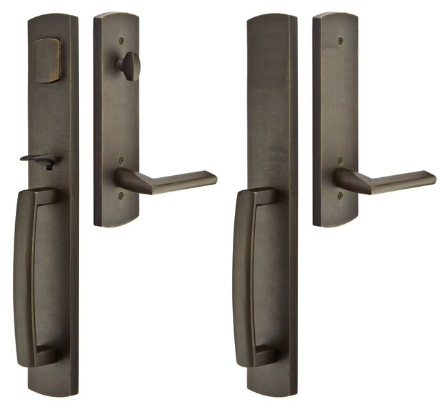 Solid Brass Brighton Style Mortise Double Door Entryway Set (Oil Rubbed Bronze Finish)