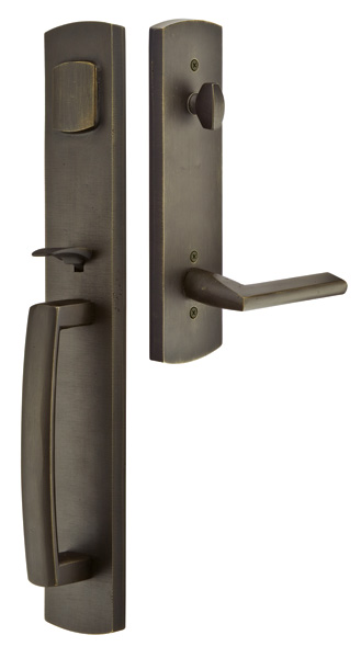 Solid Brass Brighton Style Entryway Set (Oil Rubbed Bronze Finish)