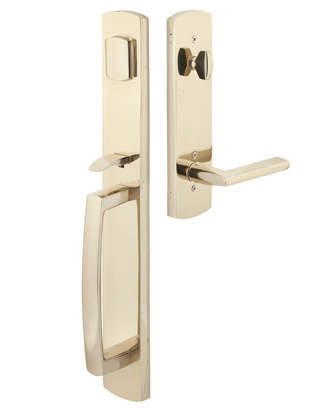 Solid Brass Brighton Style Entryway Set (Polished Chrome Finish)
