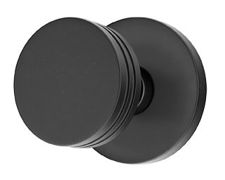 Bern Door Knob Set with Disc Rosette (Flat Black Finish)