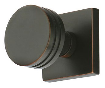Bern Door Knob Set with Square Rosette (Oil Rubbed Bronze Finish)