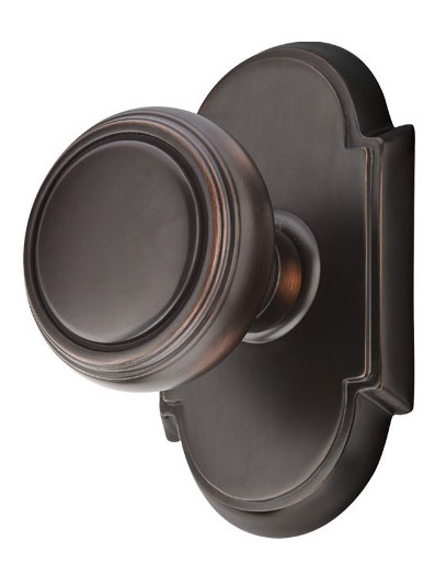 Norwich Lined Round Door Knob Set (Oil Rubbed Bronze Finish)