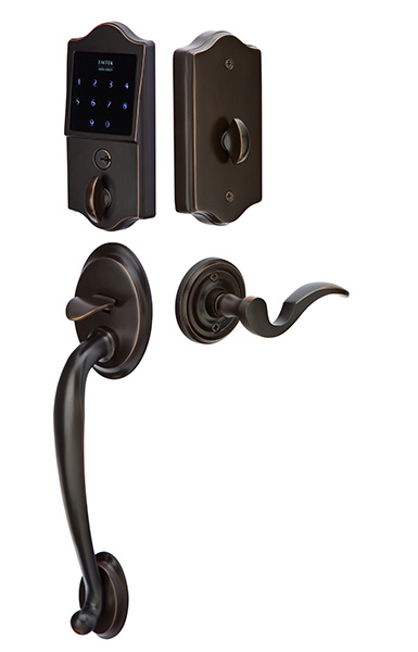 Emtek EMTouch Classic Style Electronic Keypad Entry Set with Lever (Venetian Bronze Finish)