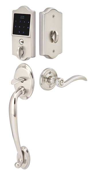 Emtek EMTouch Classic Style Electronic Keypad Entry Set with Lever (Brushed Nickel Finish)