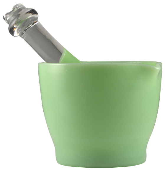 Jade or Jadeite Glass Mortar and Pestle