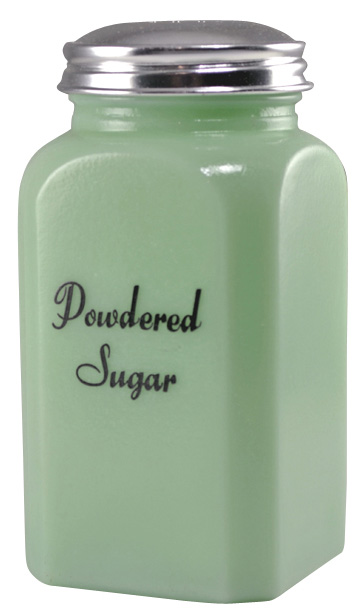 Jade or Jadeite Glass Powdered Sugar Shaker