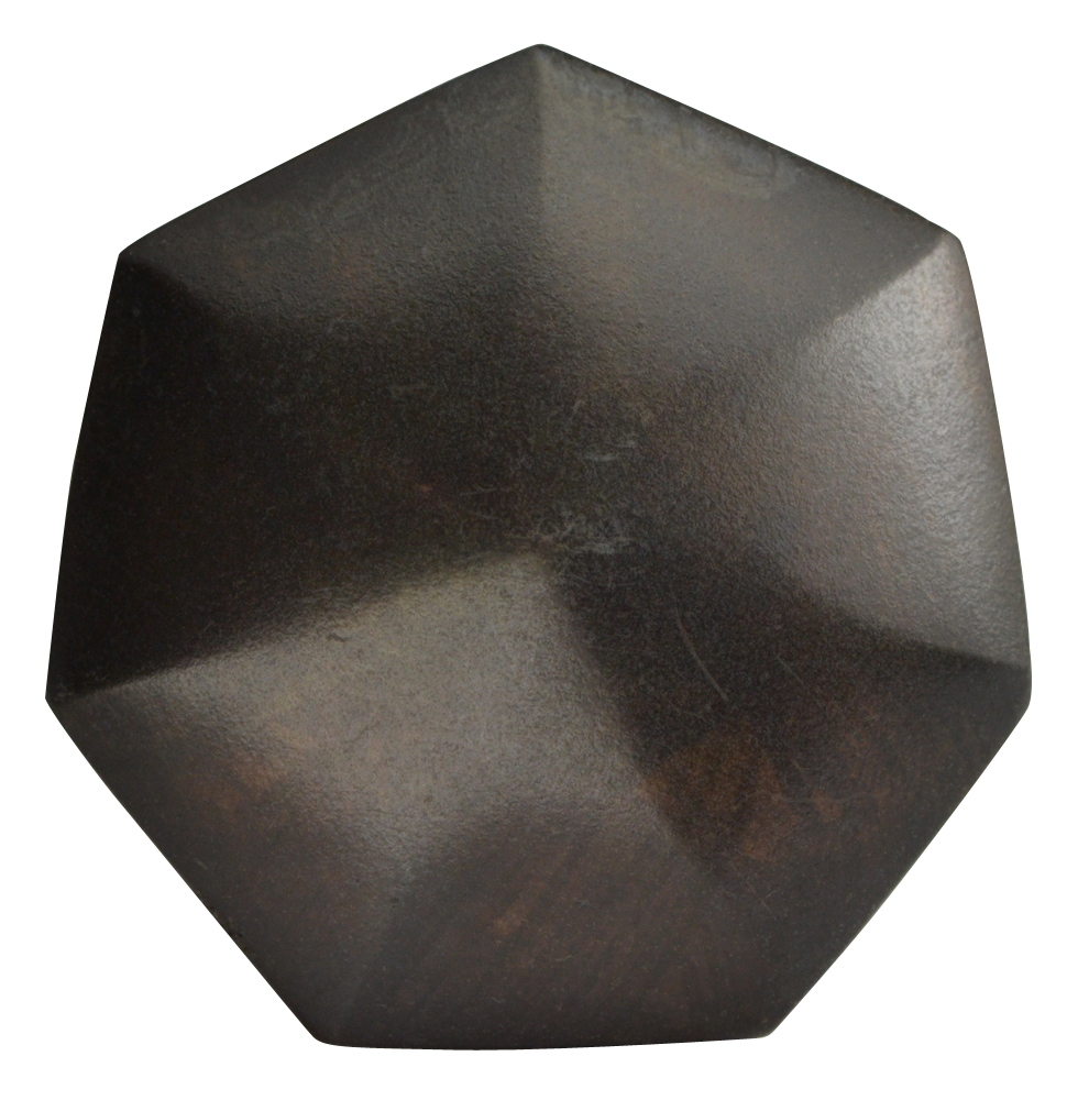 1 2/5 Inch Solid Brass Heptagon Cabinet Knob (Oil Rubbed Bronze Finish)