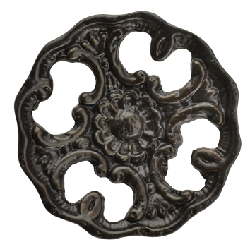 1 1/2 Inch Solid Brass Victorian Floral Knob (Oil Rubbed Bronze Finish)