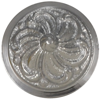 1 2/5 Inch Solid Brass Swirl Knob (Polished Chrome Finish)