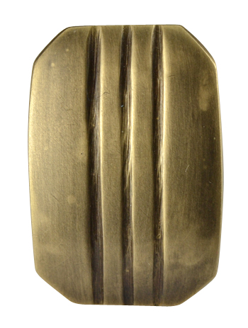 1 1/10 Inch Solid Brass Lined Knob (Antique Brass Finish)