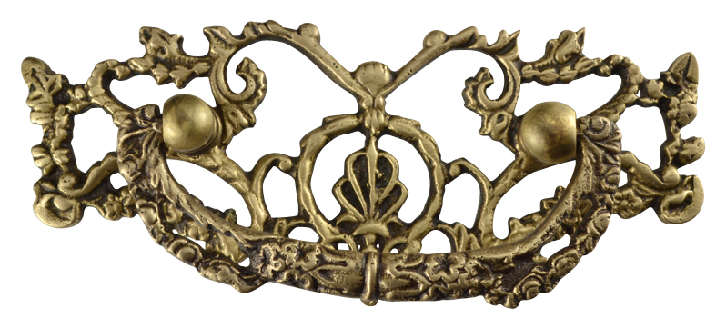 5 3/4 Inch Solid Brass Ornate Victorian Bail Pull (Antique Brass Finish)