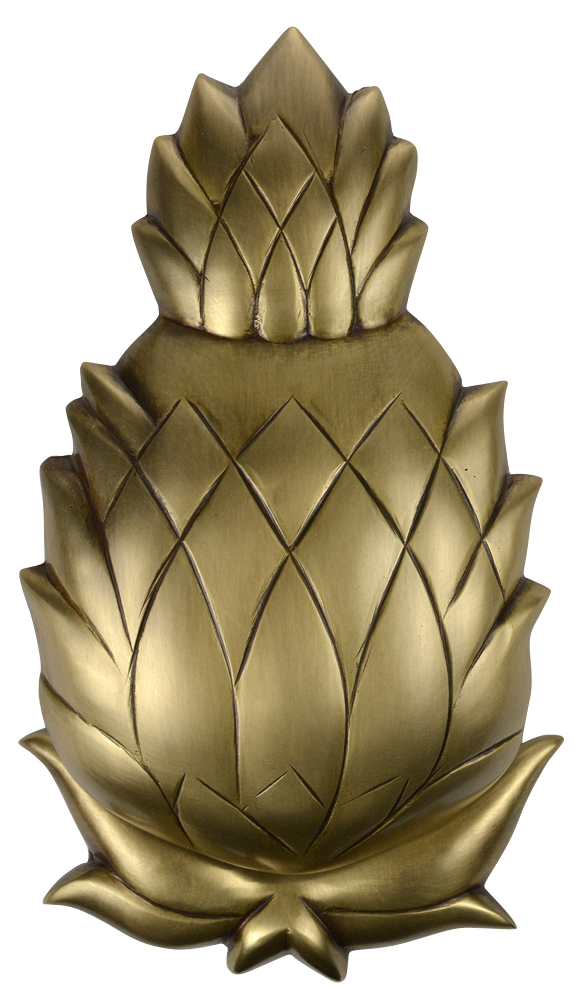 7 1/2 Inch Solid Brass Pineapple Door Knocker (Antique Brass Finish)