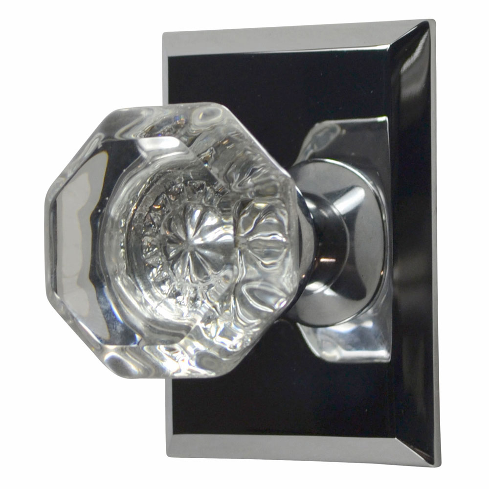 Traditional Octagon Door Knob (Polished Chrome Finish)