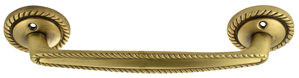 7 Inch Overall (5.00 c-c) Georgian Roped Style Solid Brass Pull (Antique Brass Finish)