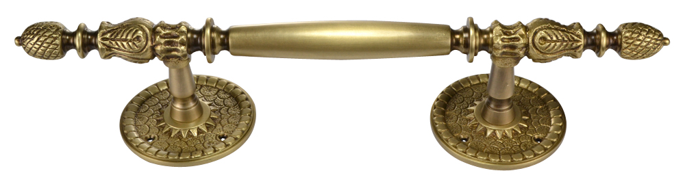 13 Inch Large Solid Brass Door Pull (Antique Brass Finish)