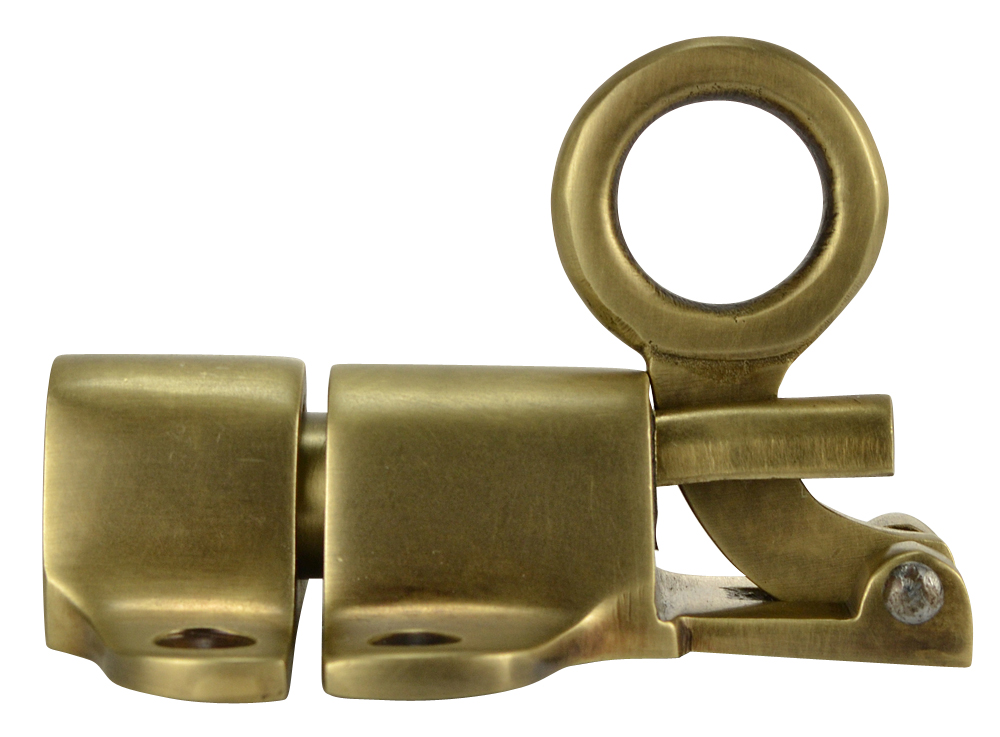 Solid Brass Traditional Transom Latch (Antique Brass Finish)