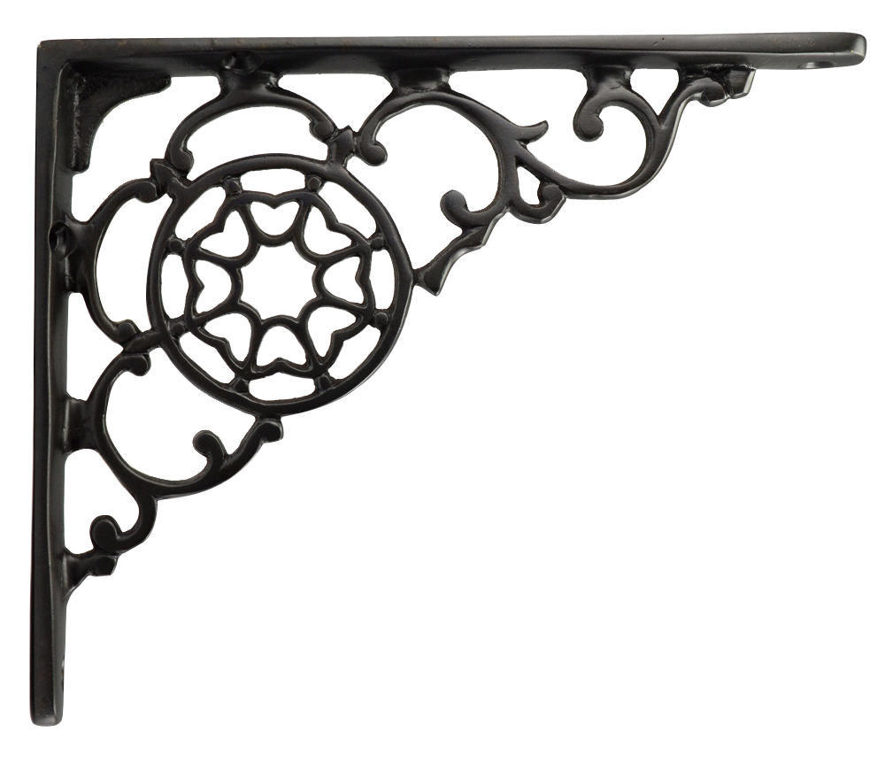 6 3/4 Inch Solid Brass Star Shape Shelf Bracket (Oil Rubbed Bronze Finish)